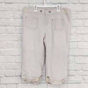 INC | Linen Cuffed Cropped Summer Pants